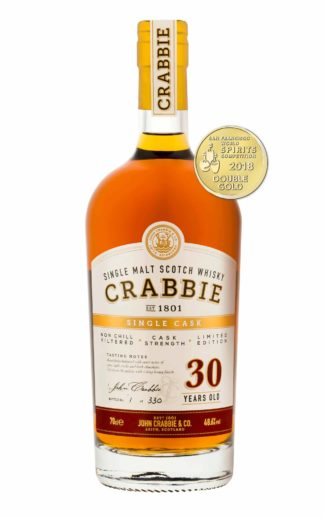 Crabbie 30 year old whiskey