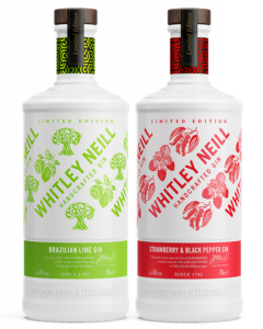 Whitley Neill Strawberry & Pepper and Brazillian Lime Gins